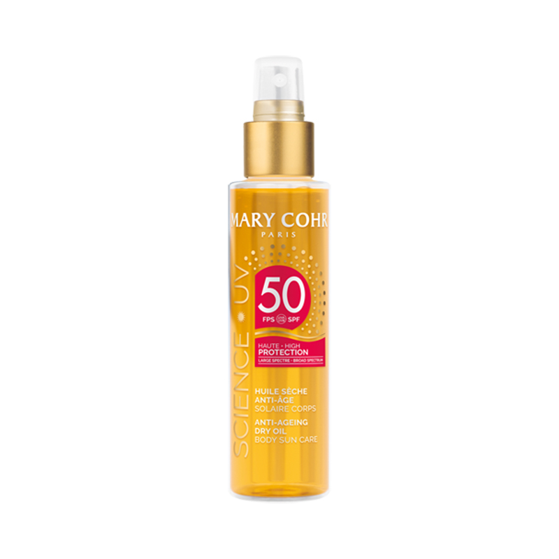 SPF50 Huile Sèche Anti-Âge Corps - Mary Cohr