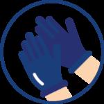 esthéticienne porte des gants