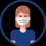 esthéticienne porte un masque